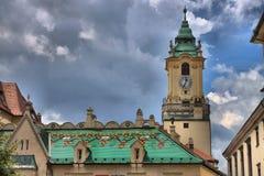 башня здание муниципалитет bratislava колокола Стоковое Изображение
