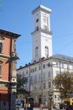 Башня здания здание муниципалитета Стоковые Изображения