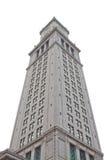 башня изолированная часами Стоковое Изображение