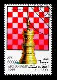 Башня (Индия), serie шахматных фигур, около 1999 Стоковые Фото