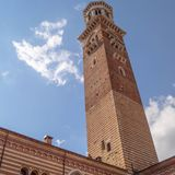 Башня и небо Стоковые Изображения