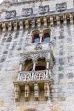 Башня и Река Tagus Belem в Лиссабоне, Португалии Стоковое Изображение
