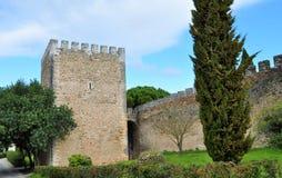 Башня и стена замка стоковая фотография rf