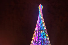 Башня кантона сцены ночи в фарфоре стоковые изображения rf