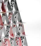 башня карточек Стоковое Изображение