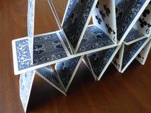 Башня карточки Стоковая Фотография