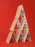 башня карточки Стоковое Изображение RF