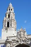 Башня Калифорнии в парке бальбоа, Сан-Диего стоковая фотография