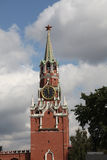 башня квадрата spasskaya ночи kremlin moscow красная kremlin moscow Россия Стоковая Фотография RF