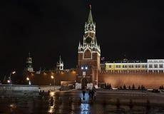 башня квадрата spasskaya kremlin moscow красная Стоковые Изображения