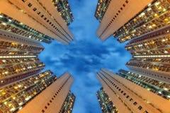 Башня квартиры Гонконга стоковые фотографии rf