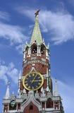 башня квадрата spasskaya ночи kremlin moscow красная Стоковые Изображения RF