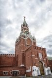 башня квадрата spasskaya ночи kremlin moscow красная Стоковые Фото