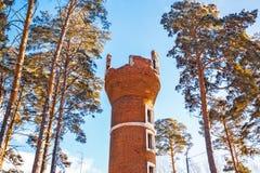 башня кирпича старая Berdsk, Сибирь, Россия Стоковое фото RF