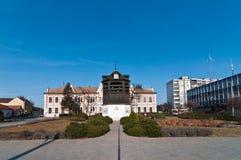 башня колокола старая квадратная Стоковые Изображения RF