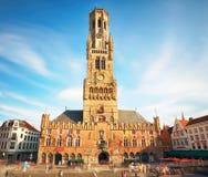 Башня колокольни Брюгге, или Бельфора, Бельгии Стоковое Фото