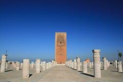башня короля Марокко hassan стоковые изображения