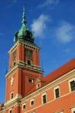 Башня королевского дворца в Варшаве Стоковое Изображение