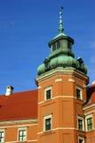 Башня королевского дворца в Варшаве Стоковая Фотография RF