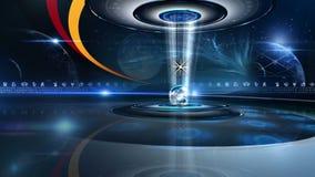 Башня колеса зодиака с астрологией подписывает Virtualset иллюстрация вектора