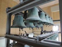 Башня колоколы на ратуше Хилверсюма, Нидерландов, Европы Стоковые Изображения RF