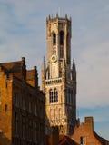 Башня колокольни Брюгге Стоковые Фотографии RF