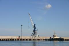 башня крана гаван Стоковое Изображение RF