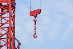 Башня крана на предпосылке неба на строительной площадке Стоковое Фото