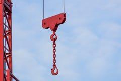 Башня крана на предпосылке неба на строительной площадке Стоковые Фото