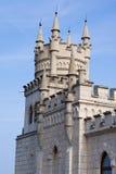 башня красивейшего замока старая Стоковые Фотографии RF