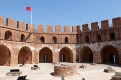 башня красного цвета kule kizil alanya Стоковая Фотография