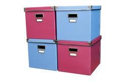 Башня красных и голубых коробок Стоковые Фотографии RF
