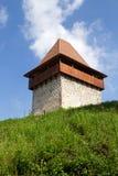 башня крепости средневековая стоковые изображения rf