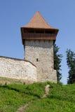 башня крепости средневековая стоковая фотография rf