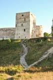 Башня крепости Izborsk около Пскова России стоковые фото