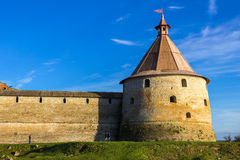 Башня крепости Oreshek Shlisselburg Россия стоковое фото rf