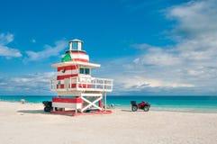 Башня личной охраны в южном пляже, Miami Beach, Флориде Стоковая Фотография RF