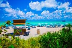 Башня личной охраны в Miami Beach, южном пляже Флорида США Стоковые Изображения RF