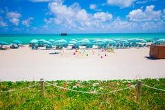Башня личной охраны в Miami Beach, южном пляже Флорида США Стоковые Фотографии RF