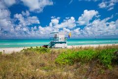Башня личной охраны в Miami Beach, южном пляже Флорида США Стоковая Фотография RF