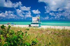 Башня личной охраны в Miami Beach, южном пляже Флорида США Стоковые Изображения