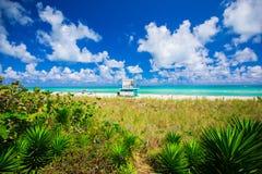 Башня личной охраны в Miami Beach, южном пляже Флорида США Стоковые Фото