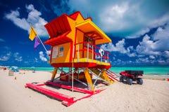 Башня личной охраны в Miami Beach, южном пляже Флорида США Стоковое фото RF