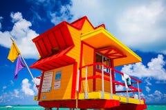Башня личной охраны в Miami Beach, южном пляже Флорида США Стоковое Изображение RF