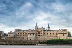 Башня Лондона - исторического королевского дворца Стоковая Фотография RF