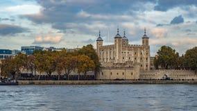 Башня Лондона, самое старое здание в Лондоне Стоковое Фото