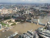 Башня Лондона сверху Стоковое Изображение