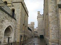 Башня Лондона - части исторических королевских дворцов Стоковая Фотография RF