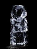 башня льда кубиков Стоковая Фотография