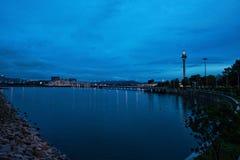 Башня Макао на ноче стоковая фотография rf